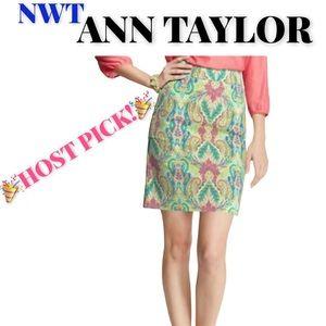"🆕 Ann Taylor ""Fantasy"" Madison Skirt, Size 2P"